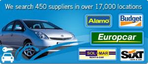 Car hire bookins in Spain